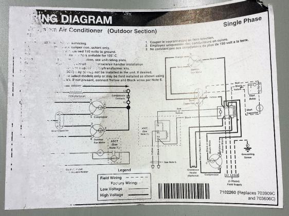 15227d1373998946 outdoor unit compressor doesnt start but fan runs outdoor wiring outdoor unit compressor doesn't start (but fan runs Single Phase Compressor Wiring Diagram at aneh.co
