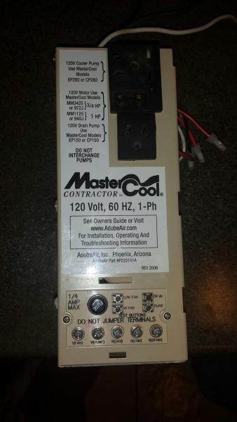 Hook up swamp cooler wiring