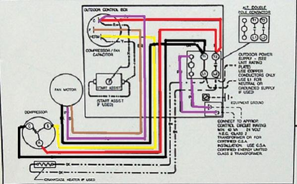 Heat Pump Compressor Fan Wiring Doityourselfcom Community ... Air Conditioner Condenser Wiring Diagram on
