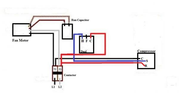 slide rule hvac wiring schematic replacing a ge 3-wire condenser fan with a 4-wire ... #12