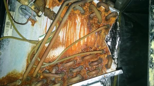 Rust On Trane Evaporator Coil Doityourself Com Community