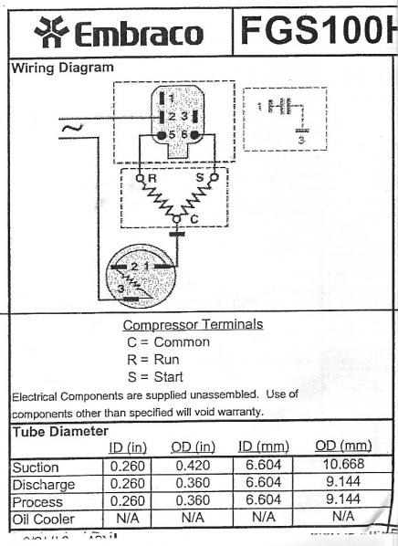 Wiring Diagram Compressor Motor : Refrigeration diagram compressor