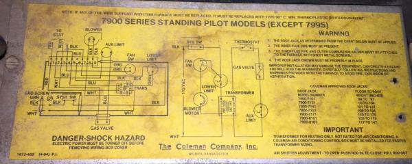 coleman two wire thermostat wiring doityourself com fan switch schematic #9