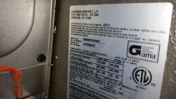Attic Installed Goodman Gms80703ancc Problems System 3