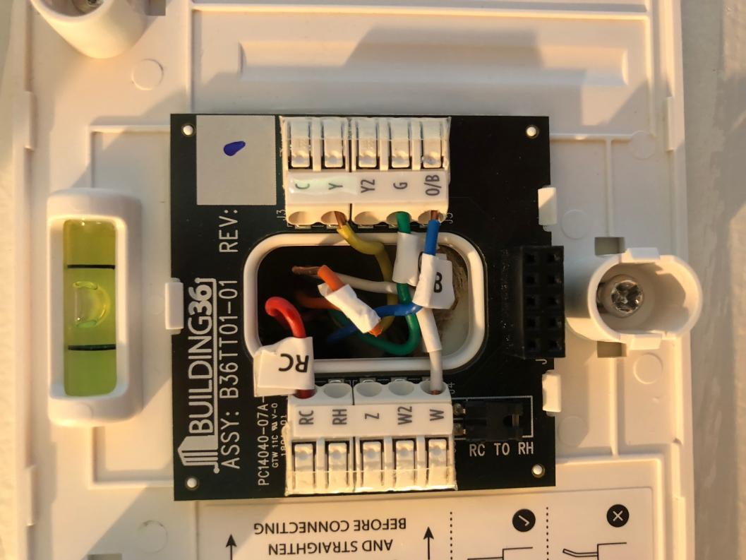 Thermostat Wiring Rh Rc Jumper
