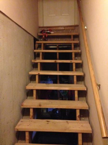 Crawl Space Finishing : How to finish these basement stairs doityourself