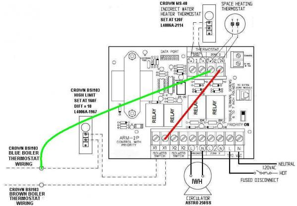 hot water boiler wiring