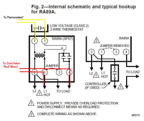 honeywell zone control valve v8043e1012 connect to line Zone Valve Wiring Schematic taco zone valve wiring guide wiring
