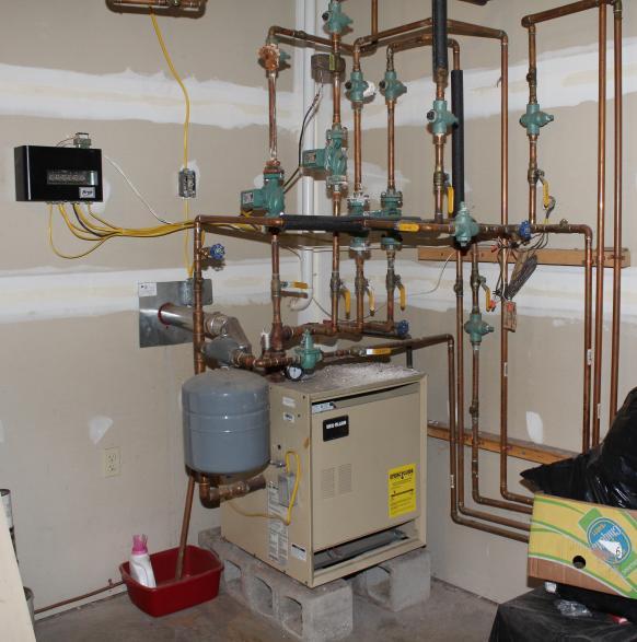 repair of propane furnace fittings