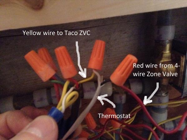 Need Help Wiring Zone Valve To Taco Zvc