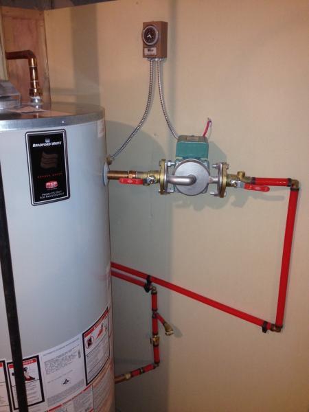Basement Radiant Floor Heating Cools Water Heater