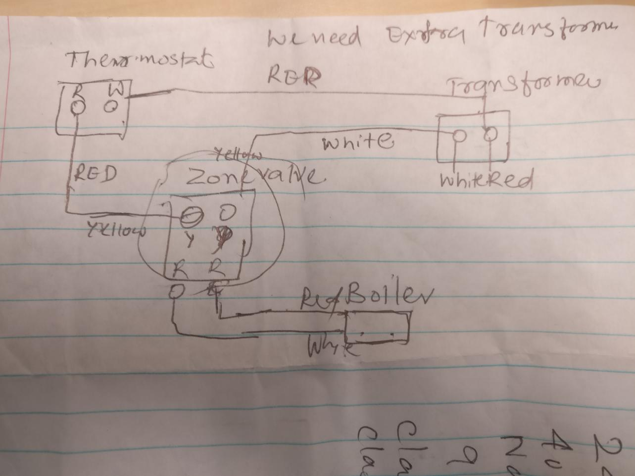Wiring Two Zone Valve With Weil Mclain Water Boiler Doityourself Transformers In Series Add 24v 40va 120 To 24 V Transformer Power Up Both Please See Picture Of What I Am Planning Wire And Let Me Know If It Is Correct