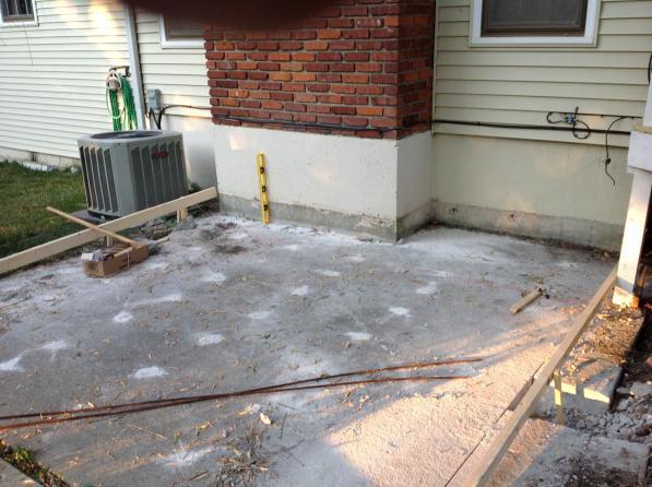 Sunken Concrete Patio What To Do