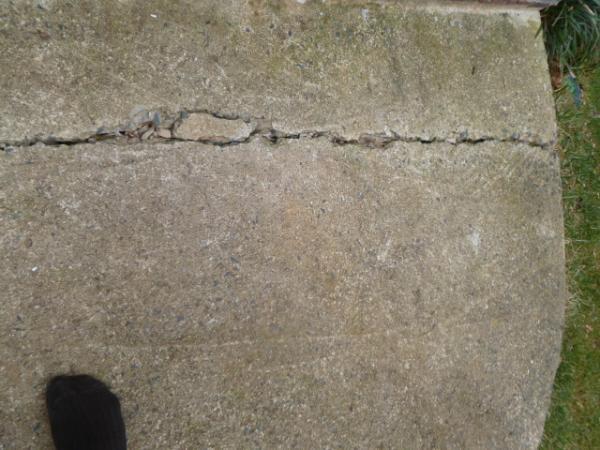 Concrete Sidewalks Do It Yourself : Diy sidewalk driveway crack repair doityourself