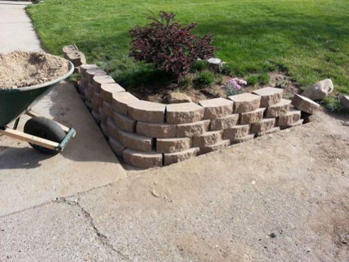 Cinder Block Retaining Walls