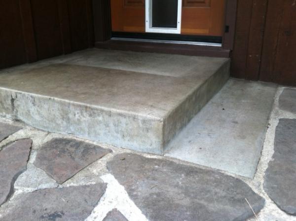 Tile Existing Concrete Stoop Doityourself Com Community