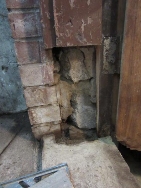 Remove Rotten Wood Frame In Bsmt Ext Door Found Crumbling