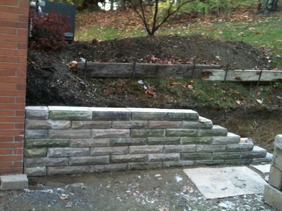 Small retaining wall correctrebuild DoItYourselfcom