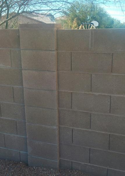building gate on a block fence. Black Bedroom Furniture Sets. Home Design Ideas