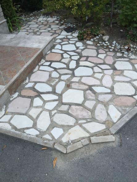 Concrete Vs Cement Vs Mortar : Repairing loose flagstones polymeric sand vs envirobond