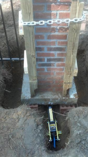 Brick column leaning community forums for Concrete block floor