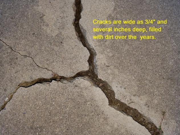 concrete crack filler driveway