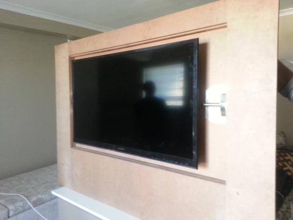 Custom Flip Wall Panel Hidden Tv Doityourself Com