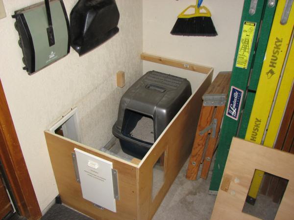 Cat door question doityourselfcom community forums for Cat bathroom door