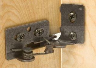 Slot cabinet hinges