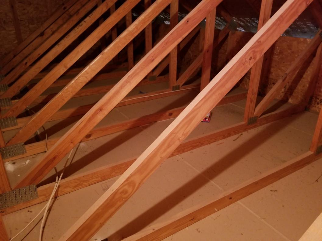 Ceiling Storage In Garage Beams 2x4 Trusses Help