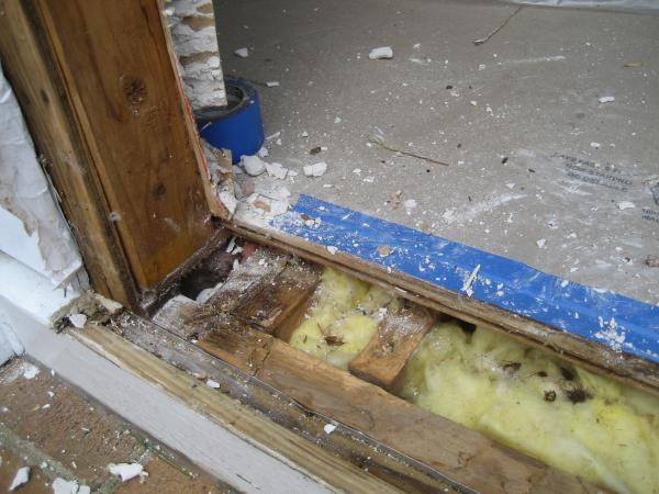front door thresholdWater leaking under front door threshold  DoItYourselfcom