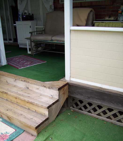 Diy Deck Plans Step By Step Small Deck Plans: Adding A Handrail To My Deck Steps