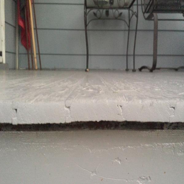 Porch Leaking Through Floor Community