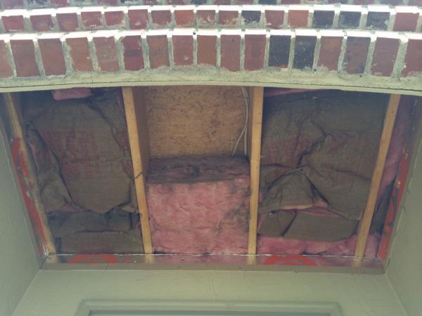Insulation above front door porch for Front door insulation