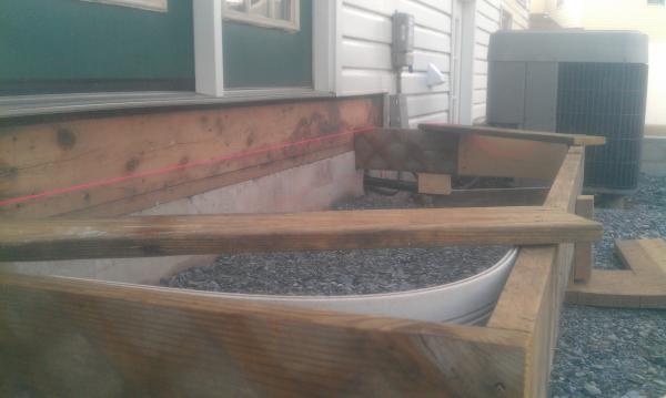 Concrete Sidewalks Do It Yourself : Concrete patio landing flashing doityourself