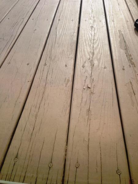 Deck Paint Peeling Question Doityourself Com Community