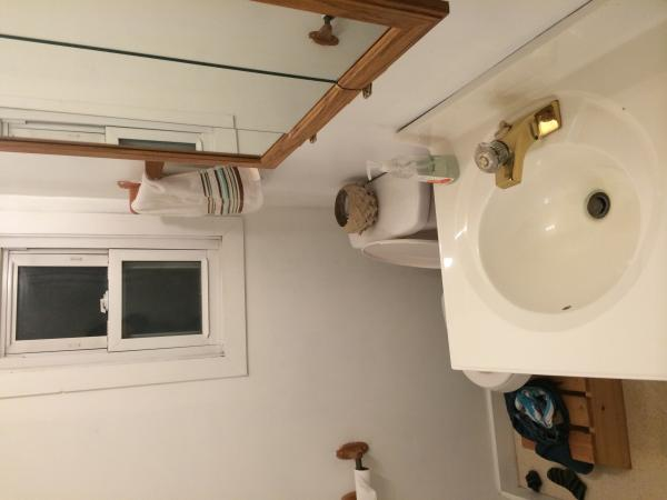 help with this small bathroom community