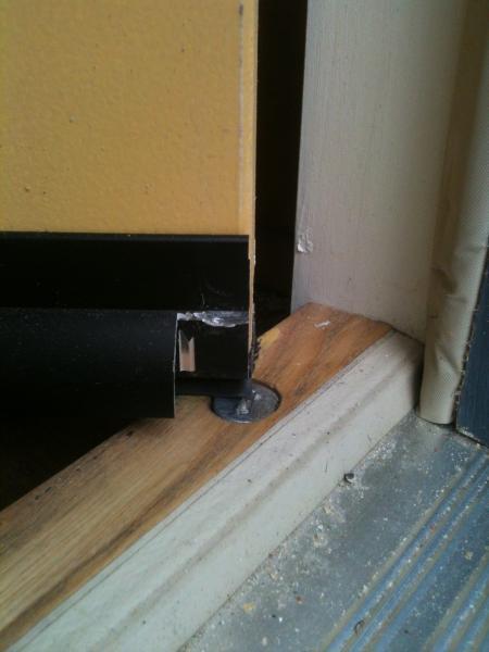 Large Gap Under My New Exterior Pre Hung Door Please Help