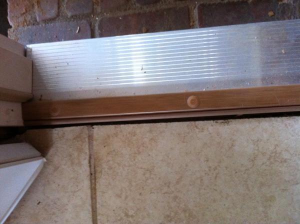Door Saddle Tile Transition Strip Between Kitchen And Dining Room 01 10 2014