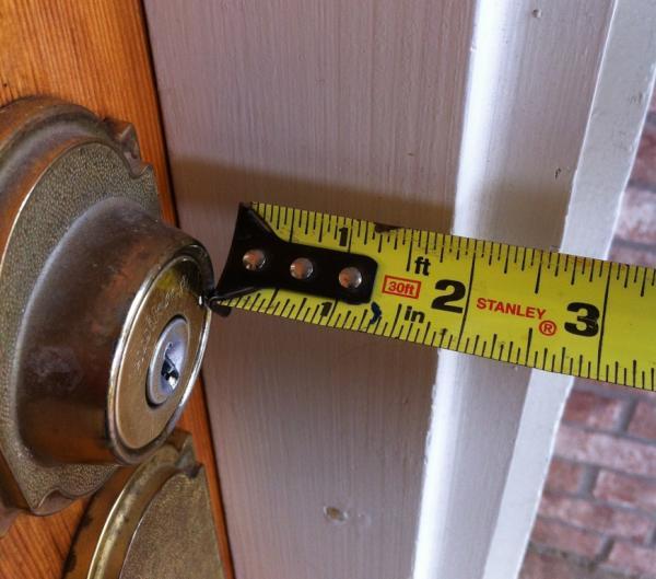 Will Storm Door Handle Hit Entry Door Deadbolt