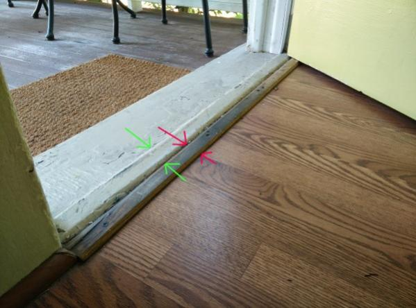 Attached Images & How to fix gap under front door? Threshold? - DoItYourself.com ...