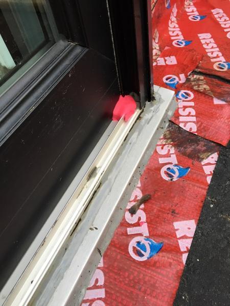 Question On Patio Door External Weep Holes And Leaks Below