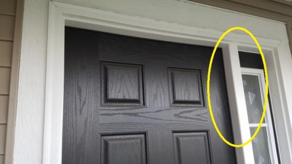 front storm doorsStorm Door Moulding  Should The Sidelights Match The Front Door