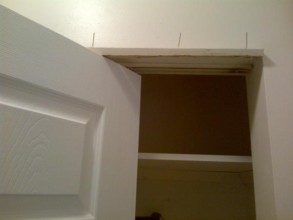 Bifold Door Trim : Does a bifold folding closet door really need cosmetic