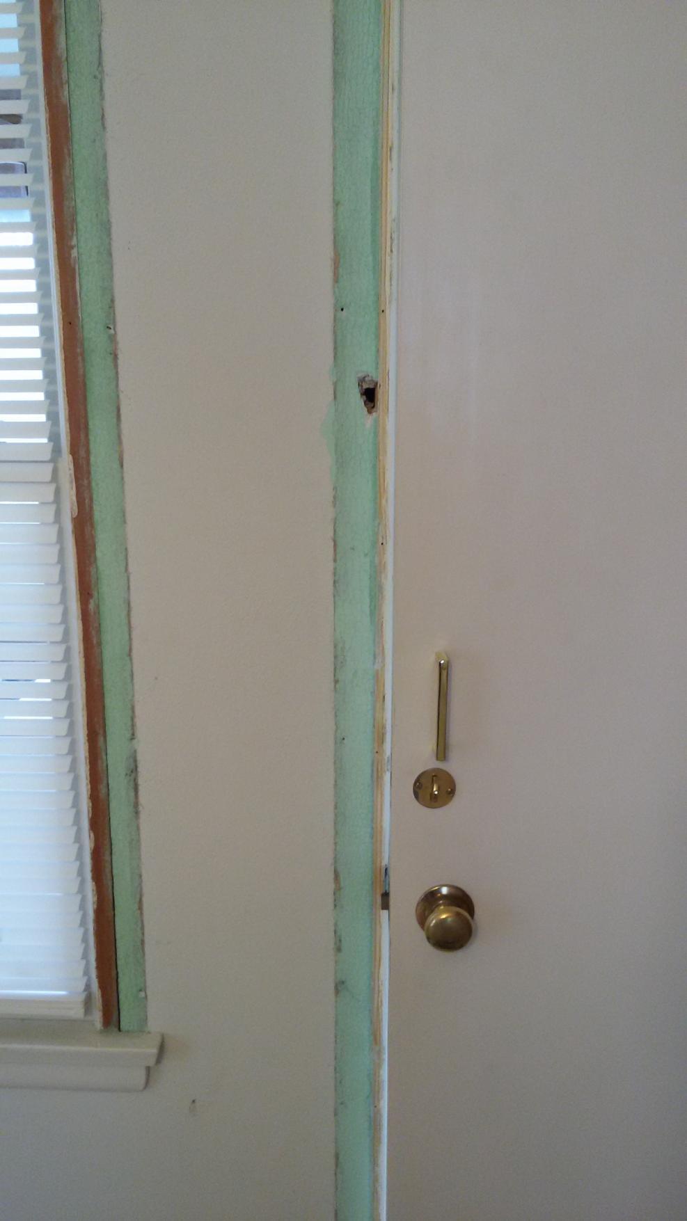 Door Jamb Issues With Exterior And Floor Brick Bathroom Lighting Fixture Electrical Doityourselfcom Thanks Guys