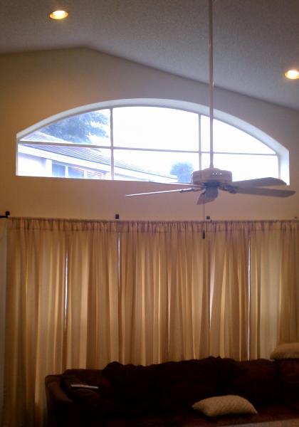 Need help with odd shaped window treatment doityourself - Most popular window treatments ...
