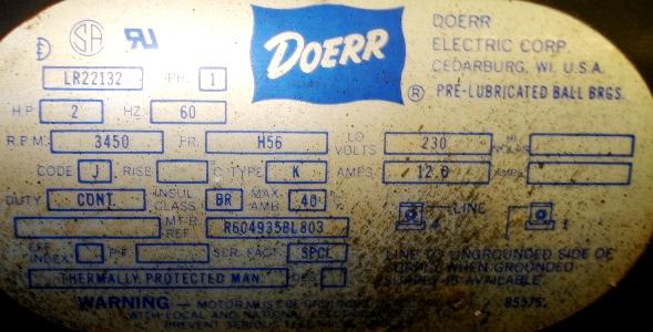 Doerr 220v Electric Motor How to Change Directions? - DoItYourself.com  Community ForumsDoItYourself.com