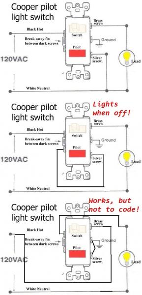 Cooper pilot light switch wire diagram wiring diagram changing a single pole light switch with a switch and pilot light ceiling wire diagram cooper pilot light switch wire diagram asfbconference2016 Images