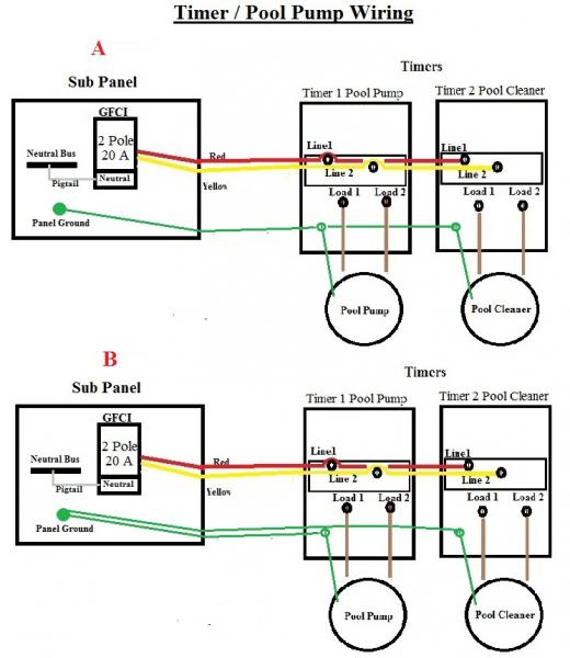 Swimming Pool Timer Wiring Diagram from www.doityourself.com