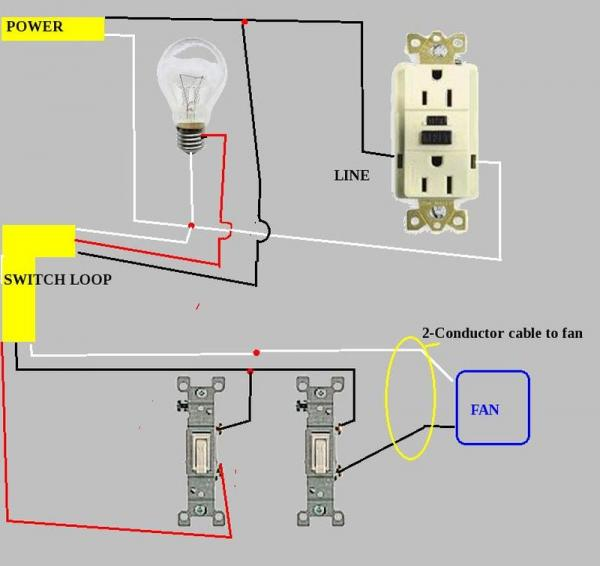 basic bathroom wiring diagram wiring diagram rh blaknwyt co Double Switch Wiring Diagram Fan Light for Bathroom Typical Bathroom Wiring -Diagram